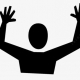 """Image of a person with their hands up in the air, reflecting the title of """"don't shoot"""" in relation to action research"""